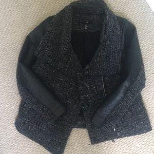 H&M Jackets & Coats - H&M Tweed Moto Jacket Sz 14